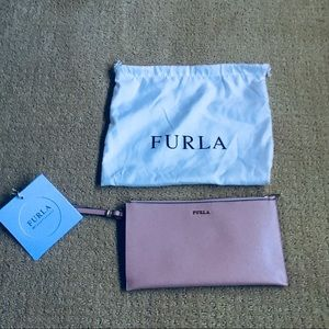 Brand new FURLA blush pink purse with wristlet
